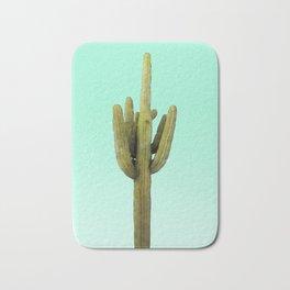 Cactus on Cyan Wall Bath Mat