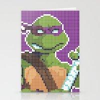 teenage mutant ninja turtles Stationery Cards featuring Teenage Mutant Ninja Turtles - Donatello by James Brunner