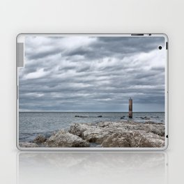 A cloudy day in Marina of Montemarciano, Italy Laptop & iPad Skin
