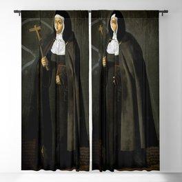 """Diego Velázquez """"Madre Jerónima de la Fuente"""" Blackout Curtain"""