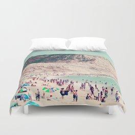beach love V Duvet Cover