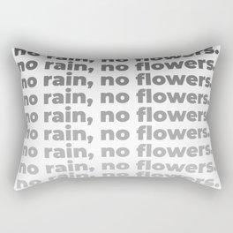 No Rain No Flowers Quote, Life Quotes, Large Printable Photography, Wall Art Print Decor Rectangular Pillow