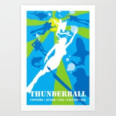 James Bond Golden Era Series :: Thunderball Art Print