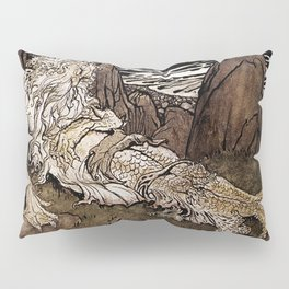 """A Crowned Merman"" by Arthur Rackham Pillow Sham"