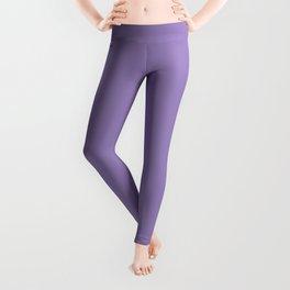 Plain Solid Color Soft Violet Leggings