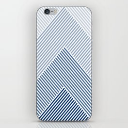 Shades of Blue Abstract geometric pattern iPhone Skin