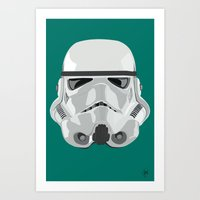 storm trooper Art Prints featuring Storm Trooper by Inza Vita