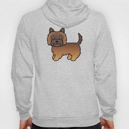 Cute Red Brindle Cairn Terrier Dog Cartoon Illustration Hoody