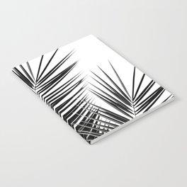 Black Palm Leaves Dream - Cali Summer Vibes #1 #tropical #decor #art #society6 Notebook