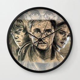 Harry, Ron & Hermione - fanart Wall Clock