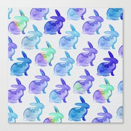 Watercolor Bunnies 1C by Kathy Morton Stanion Canvas Print