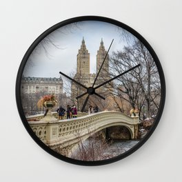 Bow Bridge, Central Park, NYC Wall Clock