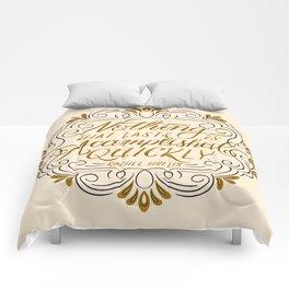 Rachel Hollis Perseverance Quote Comforters