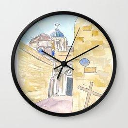 Jerusalem Via Dolorosa Church of the Holy Sepulchre Wall Clock