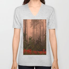 The Memories of poppies Unisex V-Neck