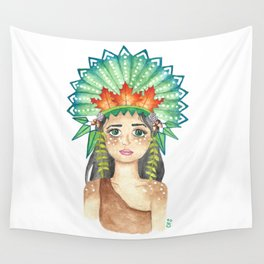 Crown of Leaves Wall Tapestry