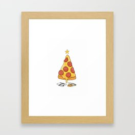 Pizza Christmas Tree Framed Art Print