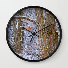 One in the Winter Wall Clock