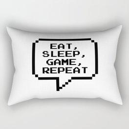 Eat Sleep Game Repeat Rectangular Pillow