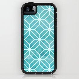 Geometric Crystals: Sea Glass iPhone Case
