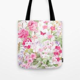 Vintage & Shabby Chic - Pastel Spring Flower Medow Tote Bag