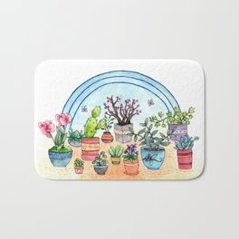 Household Plants Bath Mat