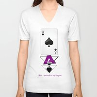 ace V-neck T-shirts featuring Ace by drQuill
