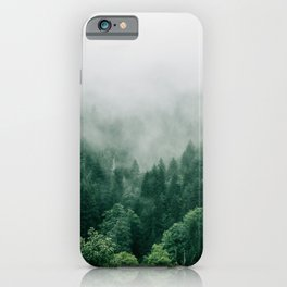 Foggy Green Pine Forest iPhone Case