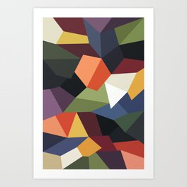 FALLING ROCKS Art Print