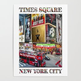 Times Square II (widescreen poster on white) Poster