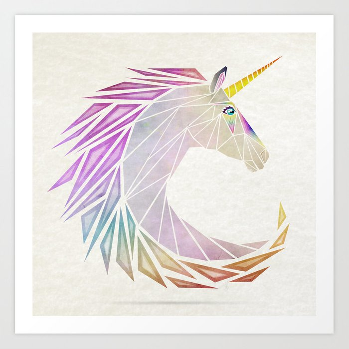 unicorn cercle Art Print