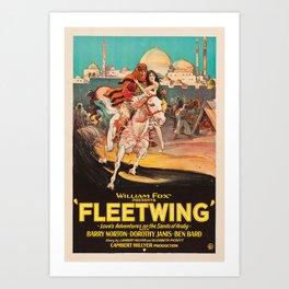 Fleetwing - Vintage 1928 American Silent Film Poster Art Print