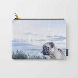 A Pug and a Beach Carry-All Pouch