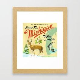Michigan framed art prints society6 sufjan stevens greetings from michigan the great lake state framed art print m4hsunfo