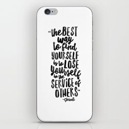 FIND YOURSELF - Ghandi iPhone Skin