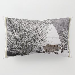 OLD SHED IN SNOW Pillow Sham