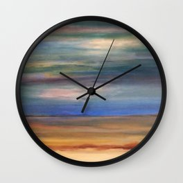 Double Setting Sun Wall Clock