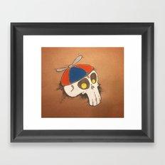 Propeller Skull Framed Art Print
