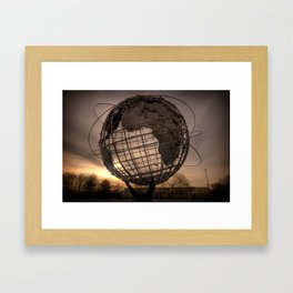 Unisphere NYC Framed Art Print