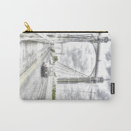 The Albert Bridge London Snow Carry-All Pouch