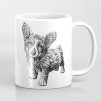 corgi Mugs featuring Corgi Puppy by BIOWORKZ