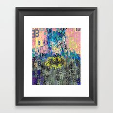 Bat Type Man - Abstract Pop Art Comic Framed Art Print
