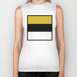 Team Colors 8...Gold ,black and white Biker Tank