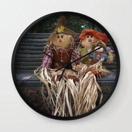 Scarecrow Family Wall Clock