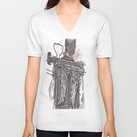 daryl dixon V-neck T-shirts featuring Daryl Dixon by Layla Atchison