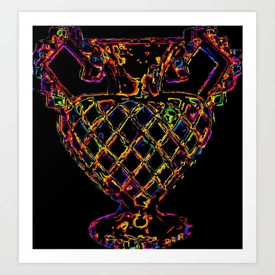 Psychedelic Outline  Art Print