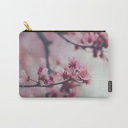 Pink Cherry Blossom On Branch Carry-All Pouch