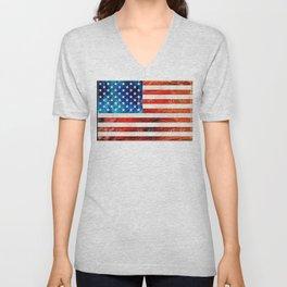 American Flag Art - Old Glory - By Sharon Cummings Unisex V-Neck