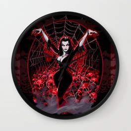 Web of Vampira Wall Clock