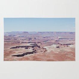 Hazy Desert Canyon Landscape Rug